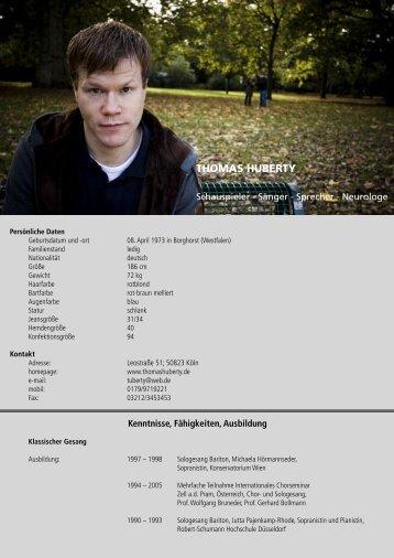 Thomas Huberty | Schauspieler - Sprecher