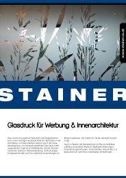 Glasdruck für Werbung & Innenarchitektur - Stainer Schriften und ...