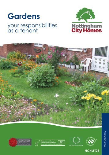 Gardens. Your responsibilities as a tenant - Nottingham City Homes
