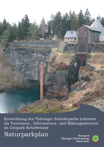 Naturparkplan - Naturpark Thüringer Schiefergebirge - Obere Saale
