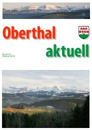 Oberthal aktuell 01/13