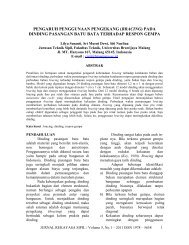 jurnal rekayasa sipil - zona rekayasa struktur - Universitas Brawijaya