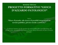"""progetto formativo """"gioco d'azzardo patologico"""" - Ce.Do.S.T.Ar."""