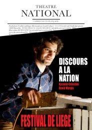 DISCOURS A LA NATION - Théâtre National