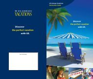 Discover the perfect vacation with US. - US Airways Vacations