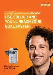 USE COLOUR AND YOU'LL REACH YOUR GOAL FASTER. - Utax