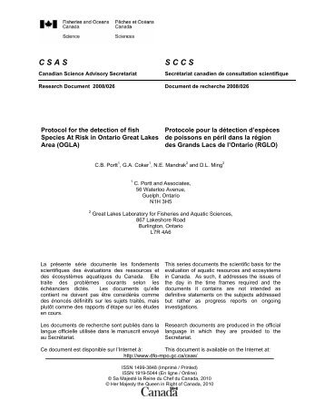 Visualiser le document complet en format PDF - Pêches et Océans ...