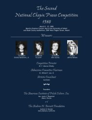 March 9 – 15, 1980 Maurice Gusman Concert Hall - Chopin ...