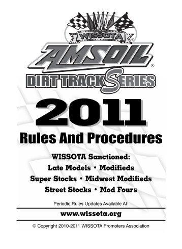 WISSOTA Rule - Tomahawk Speedway