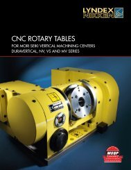 CNC Rotary Tables Catalog - Lyndex-Nikken