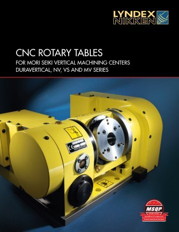 CNC Rotary Tables Catalog - Lyndex-Nikken