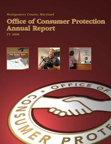 Office of Consumer Protection Annual Report - Montgomery County ...