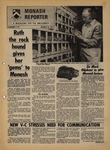 No.1-77 March - Adm.monash.edu - Monash University