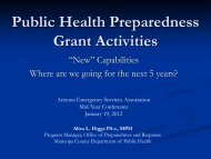 Public Health Preparedness Grant Activities - AESA