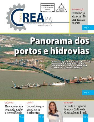 Panorama dos portos e hidrovias - CREA-Pa