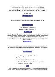 VÝSLEDKY 10 - Ministerstvo výstavby a regionálneho rozvoja