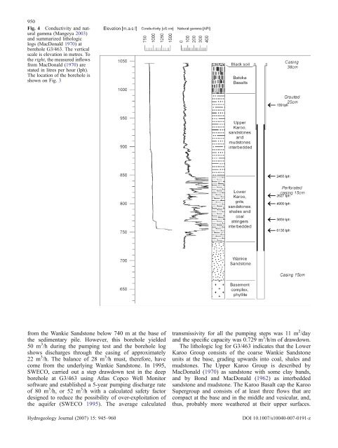 Geophysical and hydrogeologic investigation of groundwater in the ...
