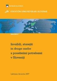 Invalidi, starejši in druge osebe s posebnimi potrebami v Sloveniji