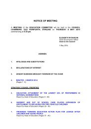 Education Committee - Stirling Council - Decisions On Line