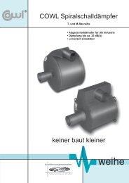 COWL Spiralschalldämpfer keiner baut kleiner - Weihe GmbH