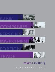 ANNUAL REPORT 2009 BANCO SECURITY