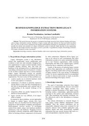 business knowledge extraction from legacy information systems