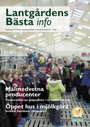 Öppet hus i mjölkgård Målmedvetna producenter - Snellman