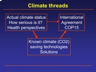 Climate threads and its health perspectives. Odense March 24, 2009