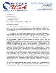 R-CALF USA's letter to the U.S. House of Representatives Against ...
