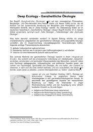 Deep Ecology - Ganzheitliche Ökologie - mag | peter maurer