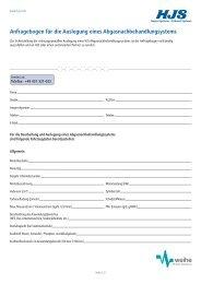 Anfragebogen für die Auslegung eines - Weihe GmbH