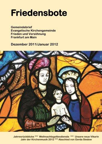 Friedensbote - Evangelische Kirchengemeinde Frieden und ...