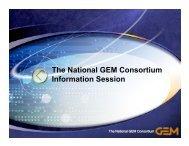 The National GEM Consortium