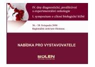 IV. dny diagnostické, prediktivní a experimentální onkologie I ...