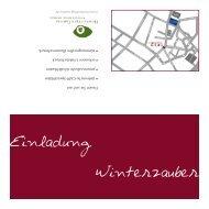 Einladung Winterzauber - Homesitting-Taunus, Oberursel