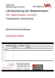 Tösstalstrasse(PDF, 5.0 MB) (öffnet neues Fenster) - Departement Bau