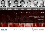 Campus for Finance – Private Equity Conference ... - Universität Ulm