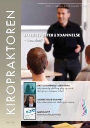 KIROPRAKTOREN nr. 5 2011 - Dansk Kiropraktor Forening