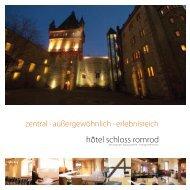 zentral · außergewöhnlich · erlebnisreich - Hôtel Schloss Romrod