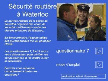 ( 5ème primaire)- Questionnaire 7.pdf - Waterloo