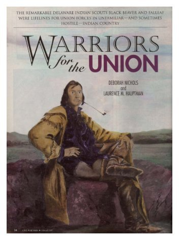 Warriors for the Union (PDF) - Delaware Tribe of Indians