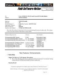 Field Software Notice FSN-0509-51ES-02 - EFJohnson