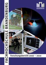 Research Directory of the Brandenburg University of Applied Sciences