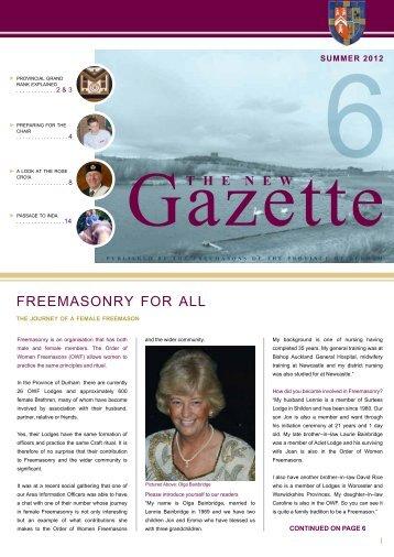 Gazette Issue 6 (Web Edition).pdf - Provincial Grand Lodge of Durham
