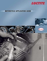 Motorcycle application guide - Loctite.ph