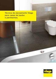 Técnica de escoamento Viega para casas de banho e pavimentos.
