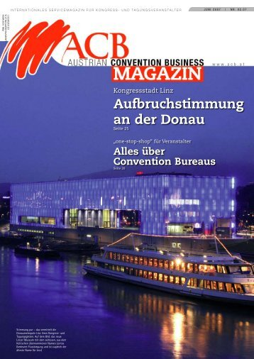 Aufbruchstimmung an der Donau - Austrian Convention Bureau