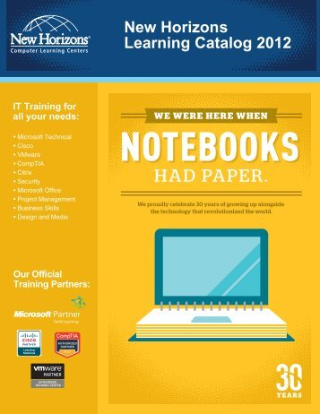 New Horizons Learning Catalog 2012 - New Horizons Computer ...