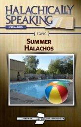 Summer Halachos - Halachically Speaking
