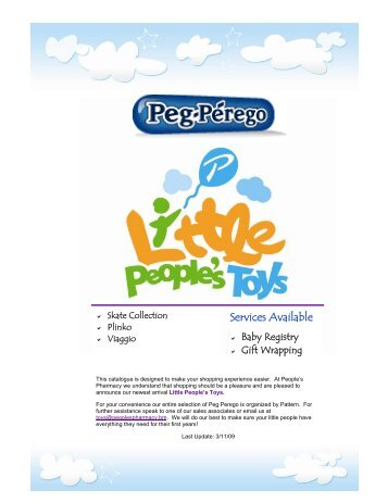 Peg Perego MAR09 - Little People's Toys